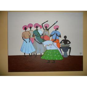 Tela Pintada À Mão Tintas Acrílicas 50cmx40cm Ref.009