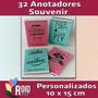 32 Anotador Souvenir Libreta Personalizada Elegí Tu Diseño!