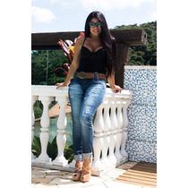 Calça Feminina Jeans Oppnus Cigarrete Skinny Lycra 2499
