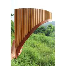 Flauta Pan Bambu + Manual+ Cd Audio Panflute