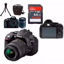 Câmera Nikon D5300+18-55+bolsa+64gb C/10+tripé