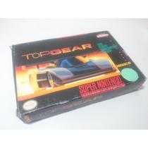 Cartucho Super Nintendo - Top Gear 1 - Americano,completo.