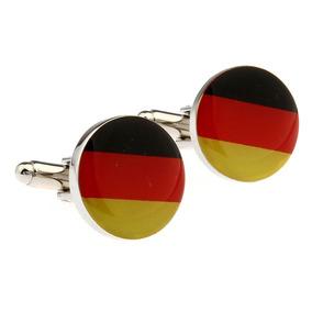 Mancuernillas Bandera Alemania Circular Acero Camisa 286