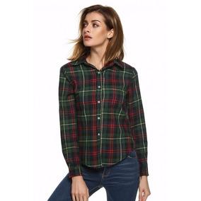 Tsuki Moda Japonesa: Blusa Camisa Cuadros Casual Variedad