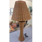Abajur Tipo Bambu Cupula Parte Eletrica 74cm Lindo Veja