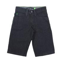 Bermuda Masculina Hd Jeans Juvenil Preta