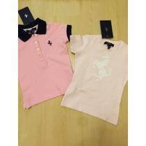 Lote Polo + Camiseta Ferrari Kids! Novos! Menina!!!