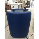 Bombona 50 Litros Tambor Tampa Rosca Novo Azul