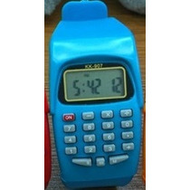 Relogio Multifuncional Calculadora Azul