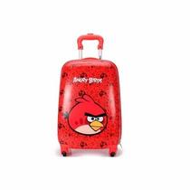 Mala Infantil Angry Birds De 4 Rodinhas 360 Escolar E Viagem