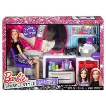Brinquedo Boneca Barbie Salão Estilo E Brilho Dtk04 Mattel