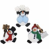 Navidad Botones Figura Muñecos Nieve Decorar Toallas Bufanda