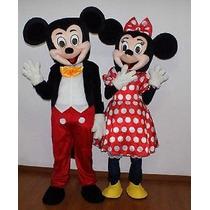 Botarga Disfraz Traje Tamaño Adulto Mickey Mouse Minnie Lbf