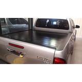 Tapa Rigida Retractil De Aluminio Para Toyota Hilux 2016+