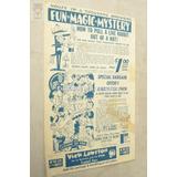 Folleto Articulos Magia Y Chascos Usa 1960 Catalogo