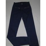 Calça Feminina Jeans Skinny Cintura Alta Detalhe Ziper T.38!