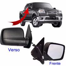 Retrovisor Ford Ranger Ano 2010 2011 2012 Lado Direito Preto