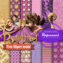 Kit Imprimible Pack Fondos Princesa Rapunzel Enredados 2
