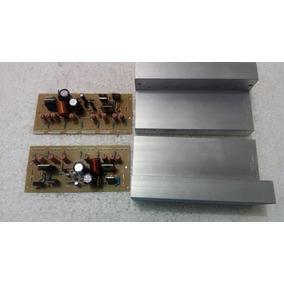 2 Placa Montadas Amplificador 300w S/ Saidas + Dissipador