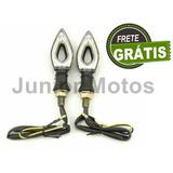 Pisca Setas Led Moto Falcon Twister Titan Fan (4 Peças)