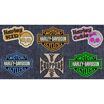 Harley Davidson Bike Chopper Moto Gp Parches Bordados