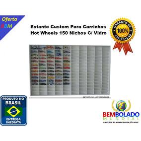 Estante Custom 150 Carrinhos Hot Wheels C/ Vidro + Brinde