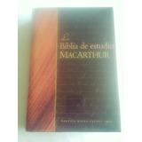 Biblia De Estudio Mac Arthur Tapa Dura Reina Valera 1960