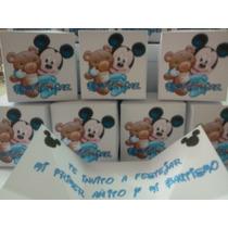 Invitacion Mickey Bebe Cajita Explosiva Con Foto *oferta*