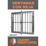 Ventana De Aluminio Serie 20 120x100 Con Reja 16mm.
