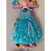 Vestido Infantil De Luxo Festa Criança Princesa Frozen