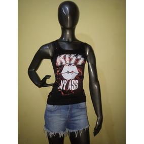 Musculosa Batick Metallica Ramones Kiss - Tachitas Engomado