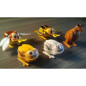 Juguete Set X5 Animalitos Antiguos Cuerda Hojalata Japoneses