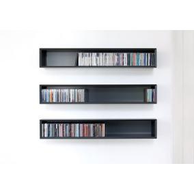 Biblioteca Repisa Porta Dvd Cd, Cubo Flotante, Cds. Diseño