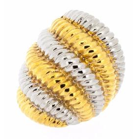 Stainless Steel Bashari Bicolour Ring Dorado 7