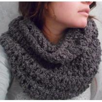 Bufanda Circular Tejido Crochet Y Miel