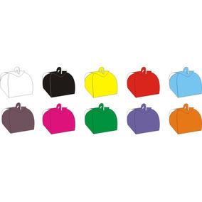 Embalagem Caixa Caixinhas Bem Casado ( Coloridas ) 100 Pçs