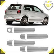 Kit Aplique Cromado Polo Hatch 04 05 06 07 08 09 Com 4 Porta