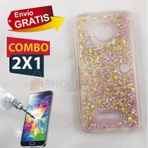 Funda Protector Liquid Case Agua + Cristal Moto Z Play