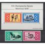 Alemania 1976 Olimpiadas De Montreal Serie Completa Mint