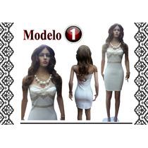 Hermosos Vestidos Tipo Coctel Blancos Ideal Para Cilvil.