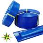 Manguera Manga Plana Pvc Desagote Riego Azul 3/4 19mm X 25mt