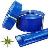Manguera Manga Plana Desagote Azul C/ Tela 32mm 1 1/4 X 25mt