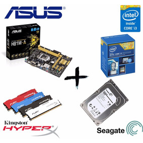 Kit Proc Ci3 4170 + Asus H81m-a + Mem 8gb Hyperx + Hd 500gb