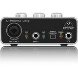 Interface De Áudio Behringer Um2 Usb - Placa De Audio Um-2