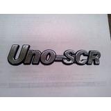 Insignia Baul Fiat Uno Scr 92/96 Azul Autoadhesiva