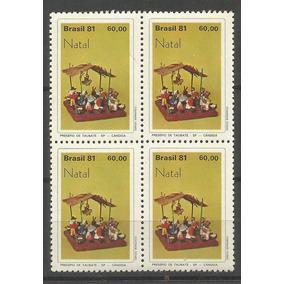 Brasil-quadras Natal 1981- Rhm C-1230 Mint - Compre Ja!!