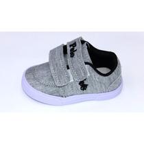 Sapato Tênis Sapatênis Pollo Ralph Lauren Bebê Criança 17-24