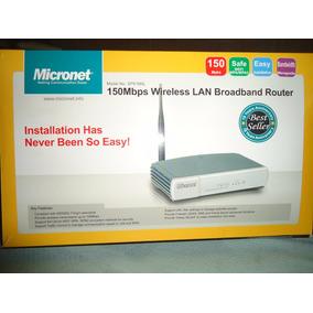 Router Inalámbrico Micronet Sp 916 Nl, Sin Uso, C/accesori
