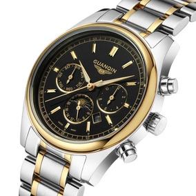 Reloj Para Caballero Guanqin, Excelente, Fino Y Elegante.