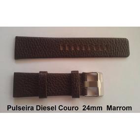 Pulseira Diesel 24mm Couro Marrom Dz1206, Dz1225 Dz7258